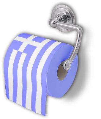 Ελληνική σημαία - χαρτί υγείας